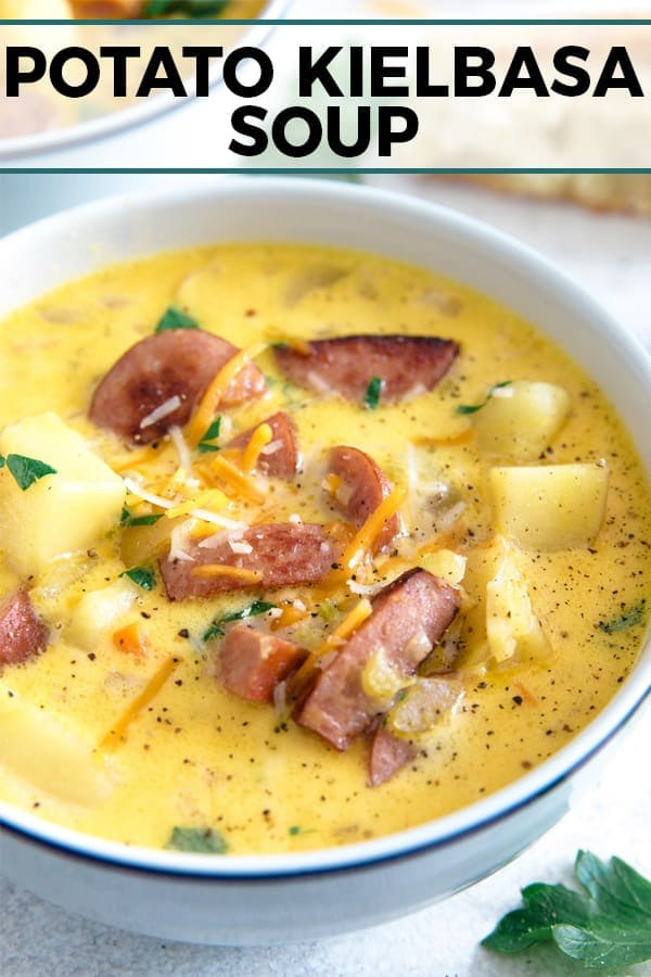 potato kielbasa soup pinterest image