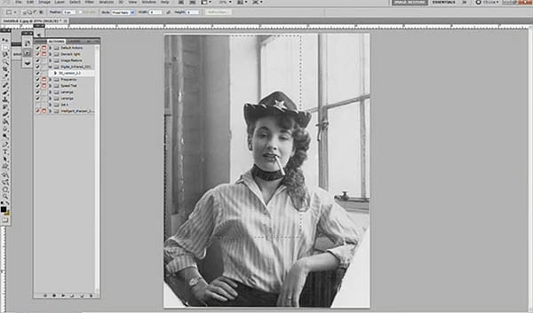 Photo restoration a video time lapse