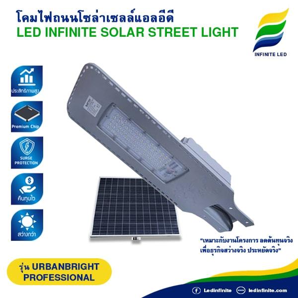 โคมไฟถนนโซล่าเซลล์ LED INFINTE SOLAR STREET LIGHT รุ่น URBANBRIGHT (PROFERSSIONAL)