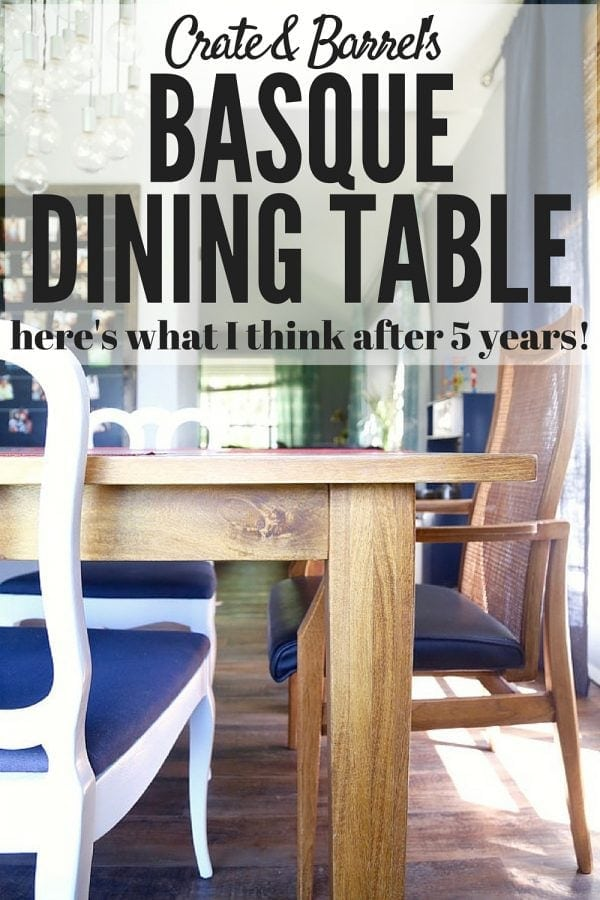 Crate Barrel Basque Table Review Love Renovations