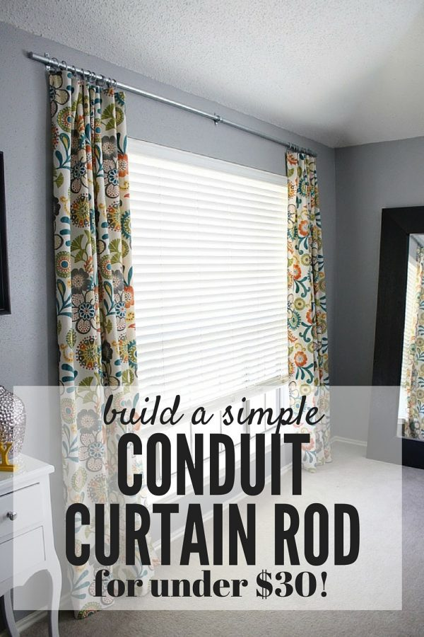 Easy Diy Conduit Curtain Rod Love Renovations