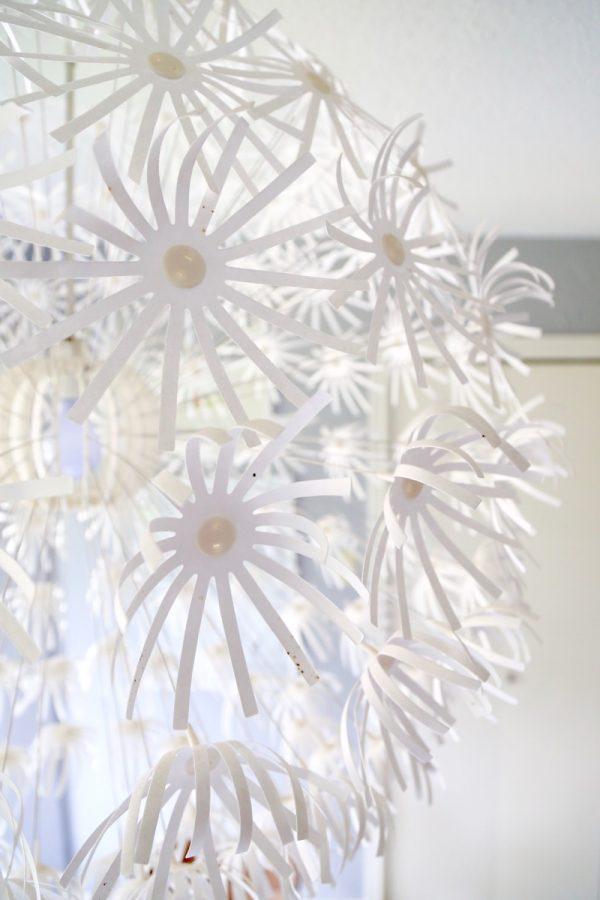 Close-up of IKEA flower light, the MASKROS