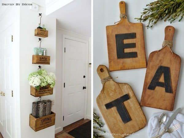 DIY idea for kitchen wall art
