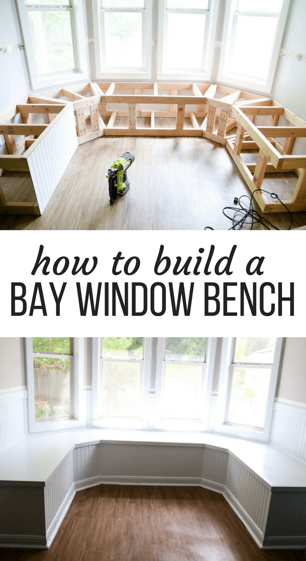 How to build a bay window bench for breakfast nook