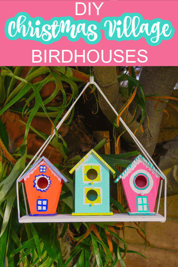 DIY Birdhouse Christmas Village