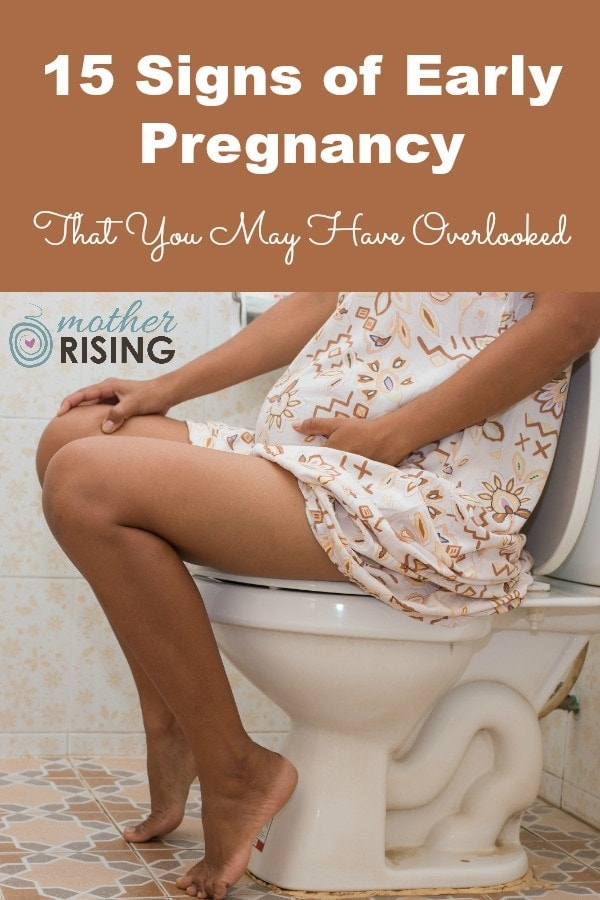 If you're in the two week wait you're probably obsessing over signs of early pregnancy you may or may not be experiencing. Check out this list to help you figure out if you're pregnant! #pregnancy #firsttrimester #pregnant