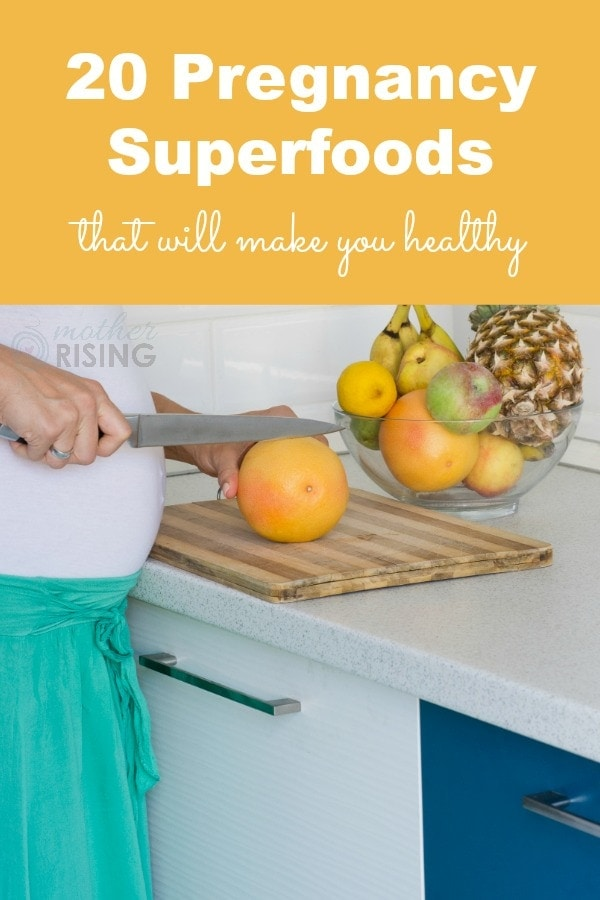 Learn how these 20 pregnancy superfoods can help keep women low risk and healthy for an easier pregnancy, childbirth, and postpartum.