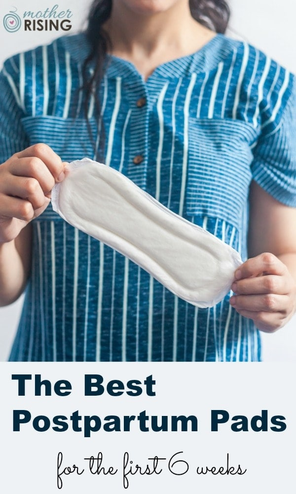 Choose the best postpartum pads for the first six weeks after birth. Plan for heavy bleeding at first, and continually less for the remaining 3-5 weeks. In this post we discusswhat to expect for postpartum bleeding and what pads to buy for each stage.