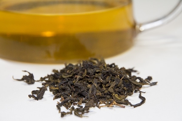 Taiwanese baozhong tea, 15-25% oxidized and closer in characteristics to a green tea