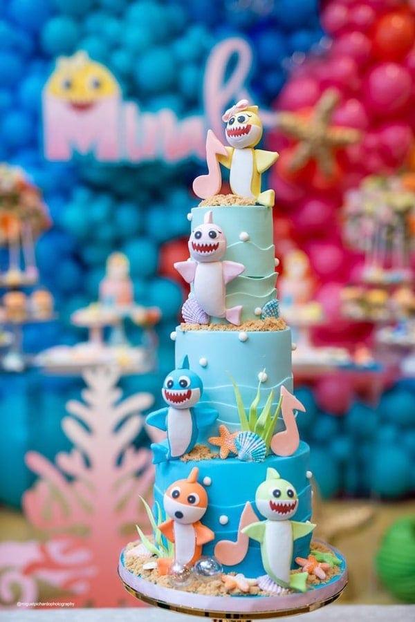 Awesome Baby Shark Birthday Cake - Baby Shark Party Ideas