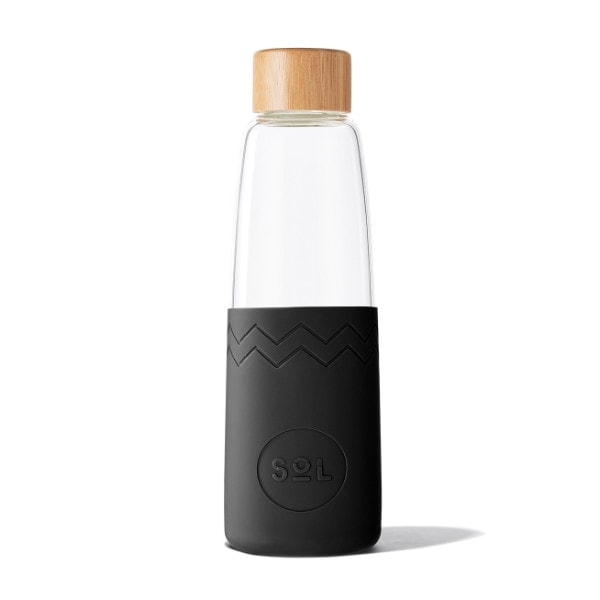 Glastrinkflasche SoL Bottle 850ml - Schwarz