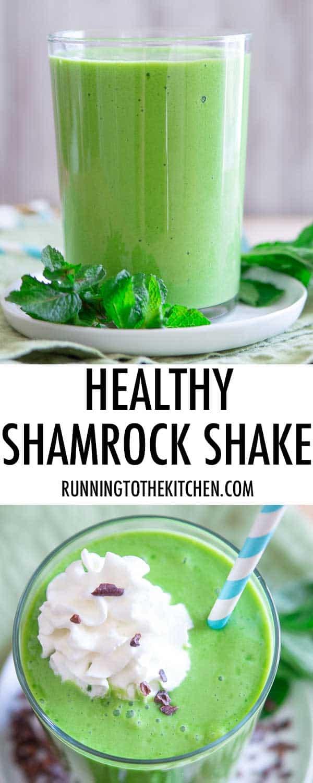 A healthy copycat version of McDonald's shamrock shake recipe.