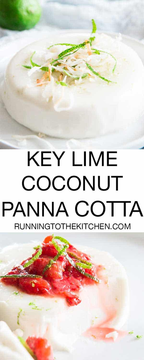 Make this key lime coconut panna cotta at home with this simple low-carb, healthier recipe. It's creamy, decadent and full of flavor.