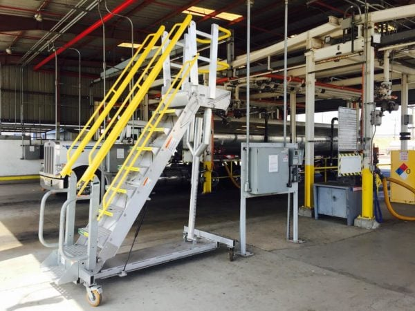 adjustable height rolling work platform 7