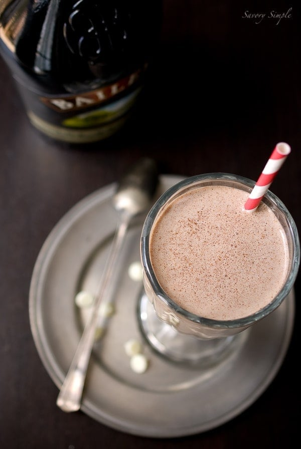 Nutella Irish Cream Milkshake ~ Savory Simple ~ www.savorysimple.net