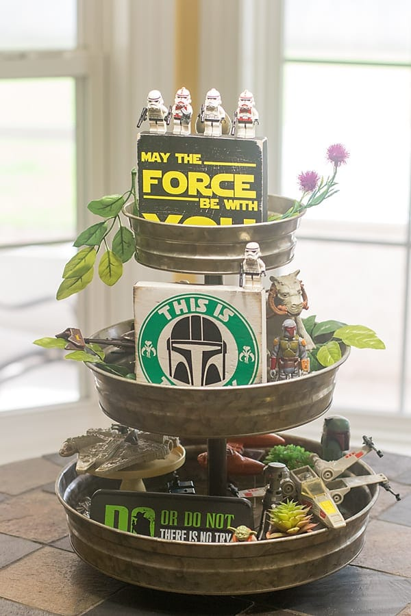 Star Wars tiered tray