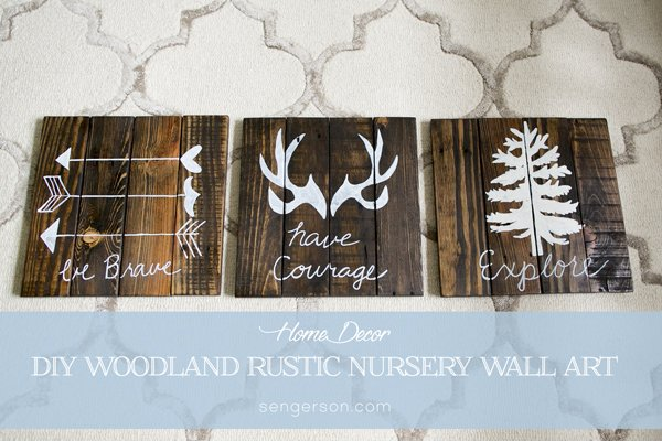 Diy Rustic Woodland Boy Nursery Decor