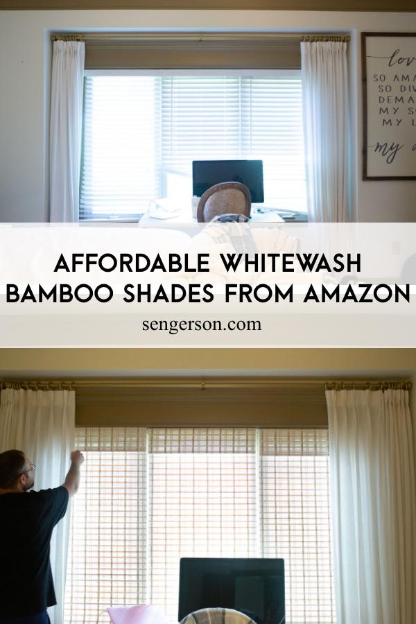 affordable whitewash bamboo natural shades