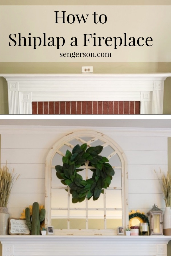 super easy tutorial on how to shiplap a fireplace easy planking project