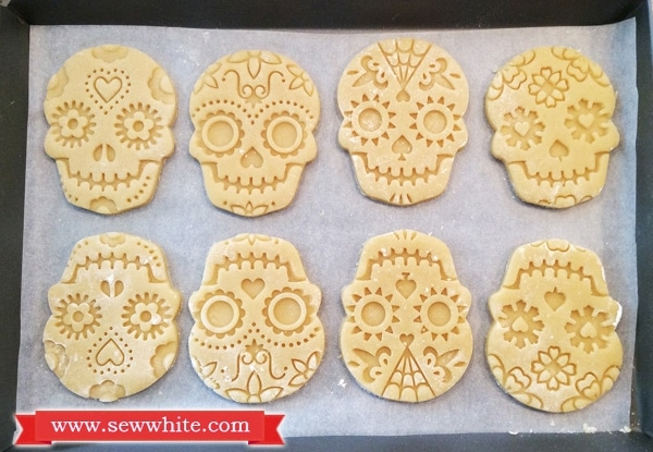 Day of the Dead biscuits ready for the oven