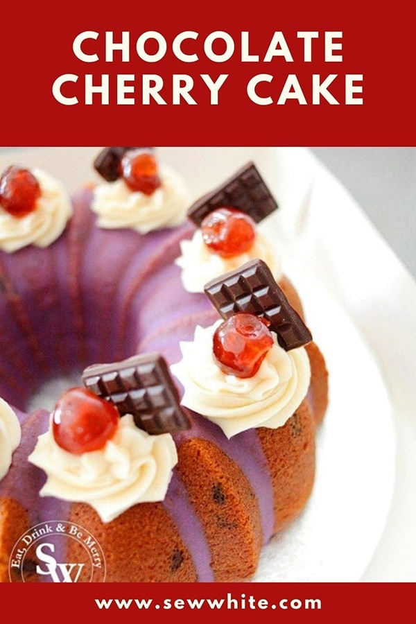 chocolate cherry cake pin
