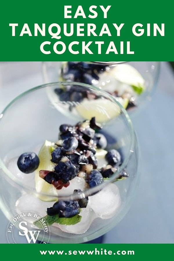 blueberry gin and tonic made with Tanqueray gin