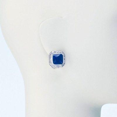 Offerte orecchini clip zaffiro