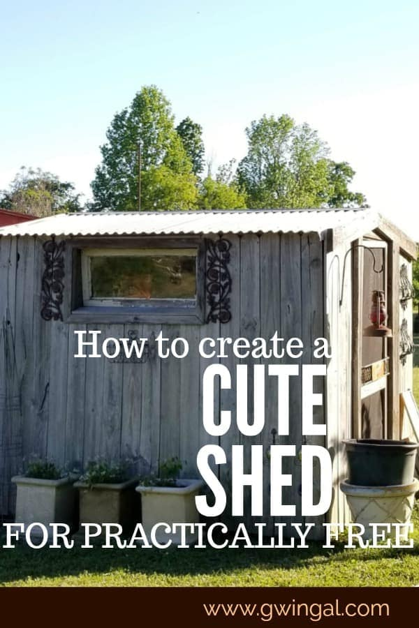 Cute barn looking shed