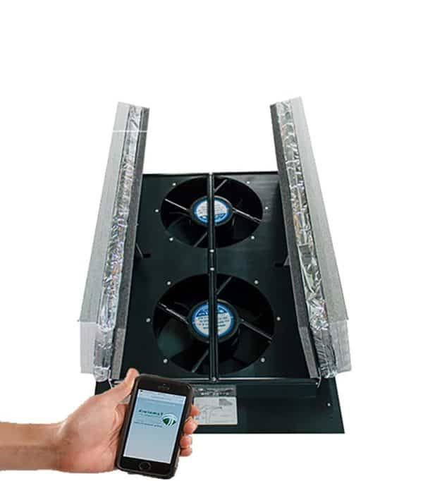 smart wifi whole house fan working with cell phone application