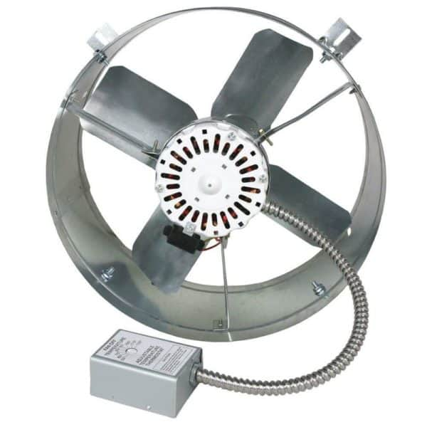 Powered Gable End Vent Fan with Thermostat