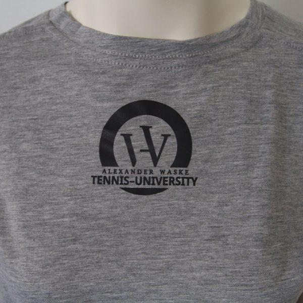 Logo-Shirt in Grau - Rueckseite | Tennis-University