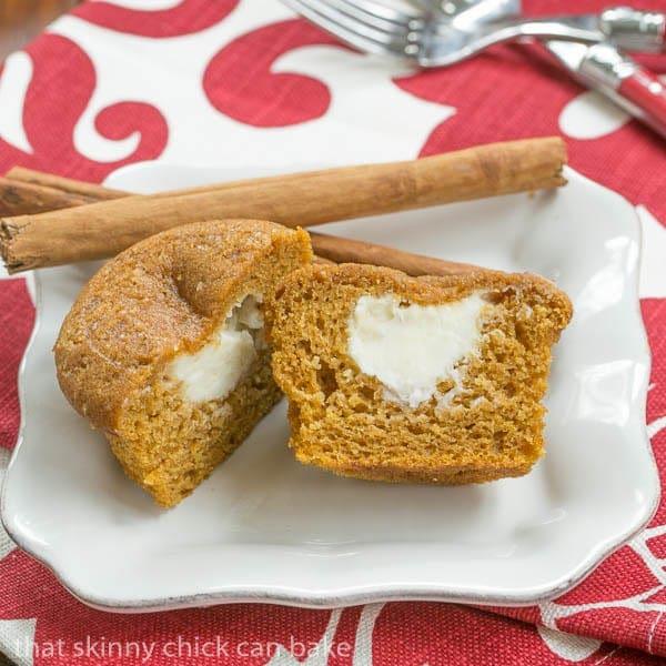 Cream Cheese Filled Pumpkin Muffins #TwelveLoaves