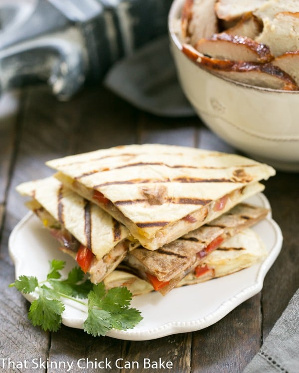 Spicy Pork Quesadillas | An easy Tex-Mex dish that's perfect for a weeknight dinner, game day snacking and more!