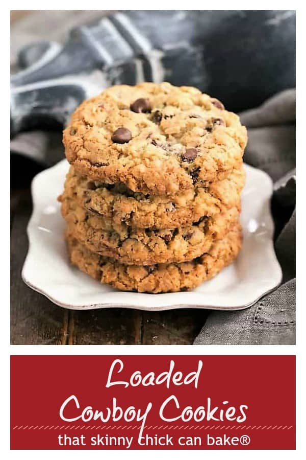 Loaded Cowboy Cookies pinterest collage