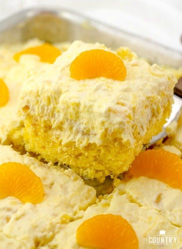 Pig Pickin Cake, also known as Mandarin Orange Cake