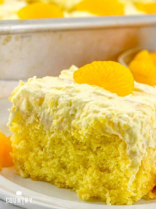slice, Pig Pickin Mandarin Orange Cake