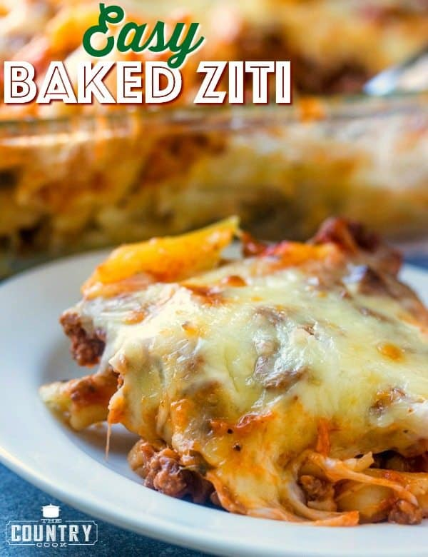 Easy Baked Ziti recipe from The Country Cook