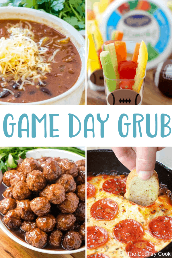 Game Day Grub recipes - appetizers, snacks, tailgating, football food, easy