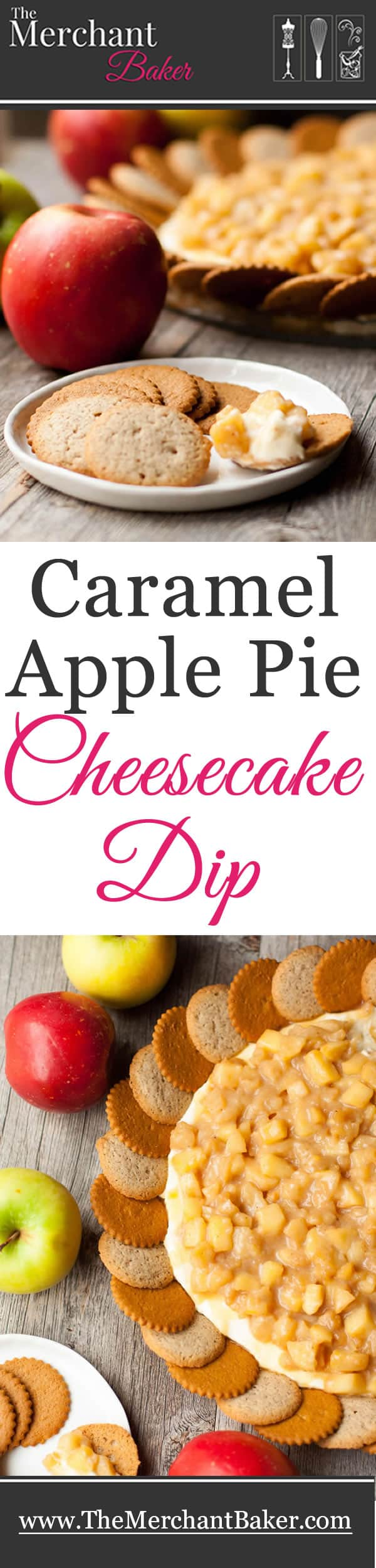 Caramel Apple Pie Cheesecake Dip