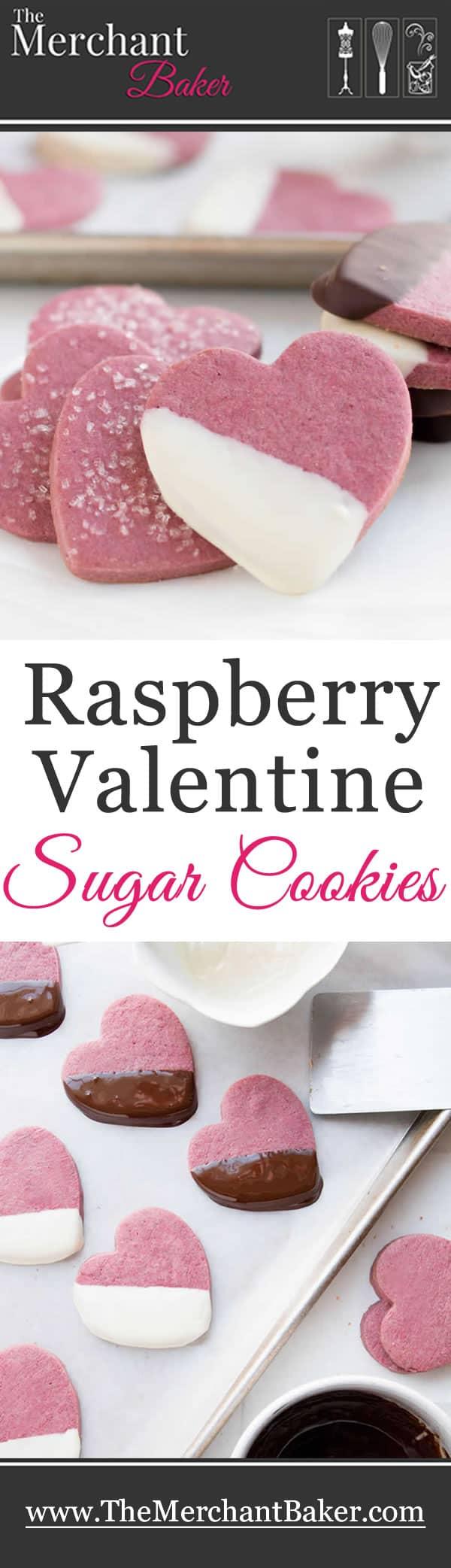 Raspberry Valentine Sugar Cookies