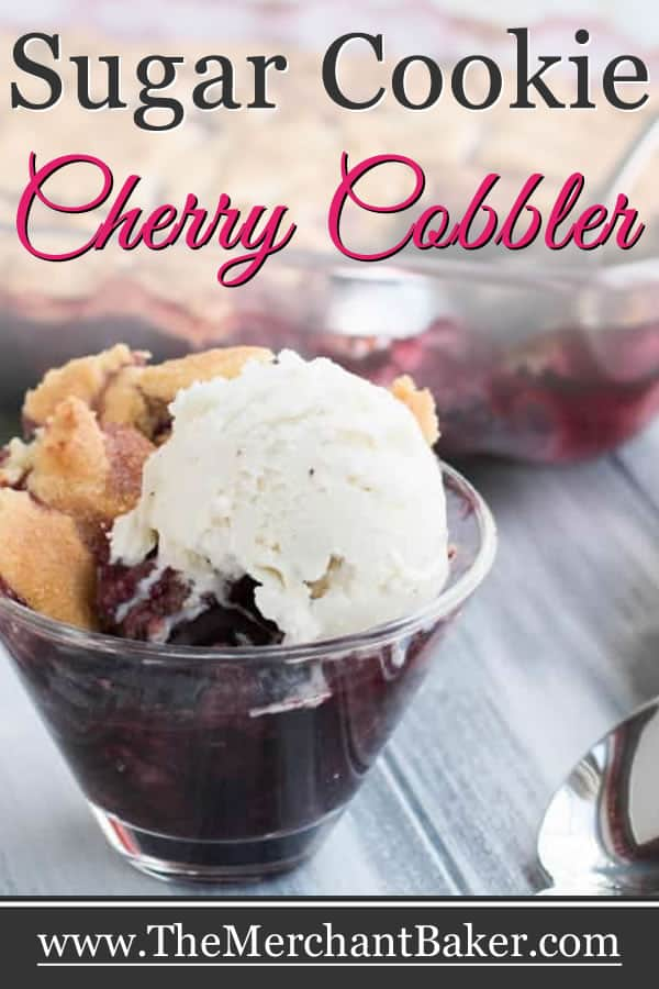 Sugar Cookie Cherry Cobbler