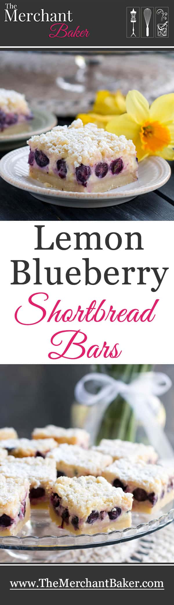 Lemon Blueberry Shortbread Bars