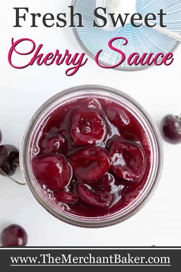 Fresh Sweet Cherry Sauce