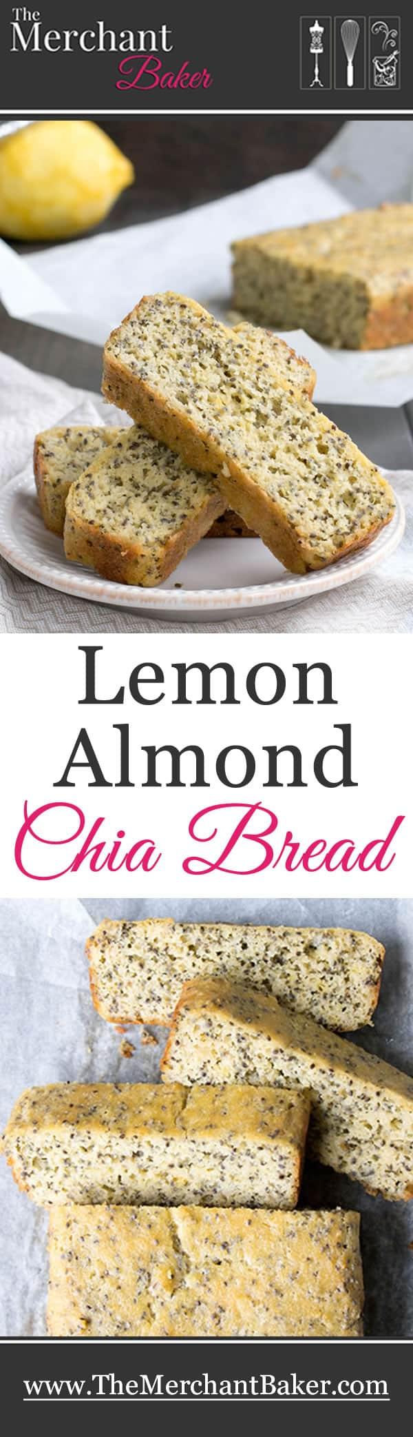 Lemon Almond Chia Bread