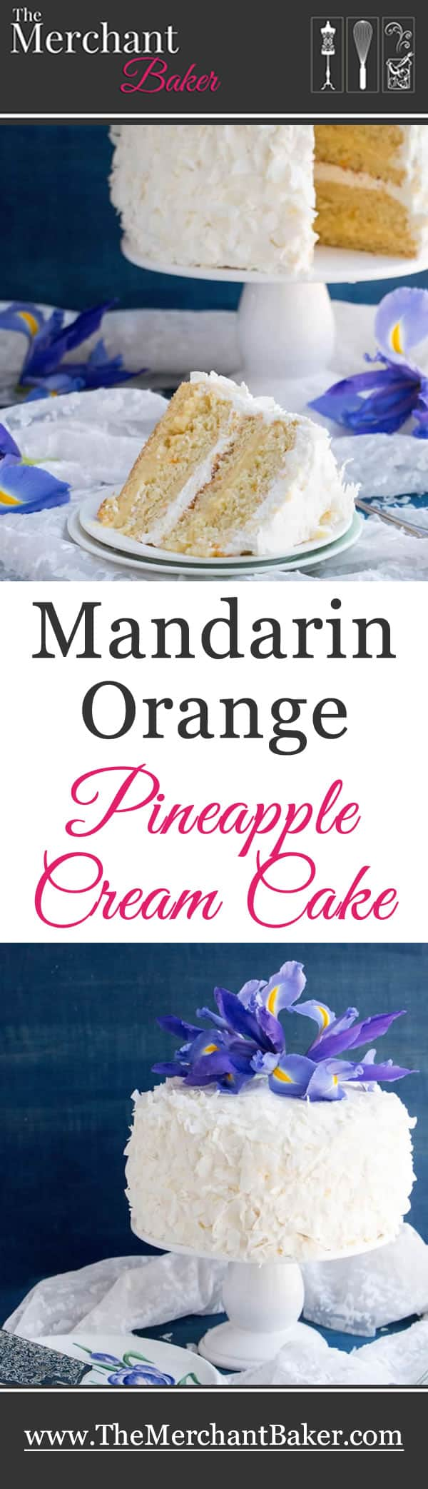 Mandarin Orange Pineapple Cream Cake