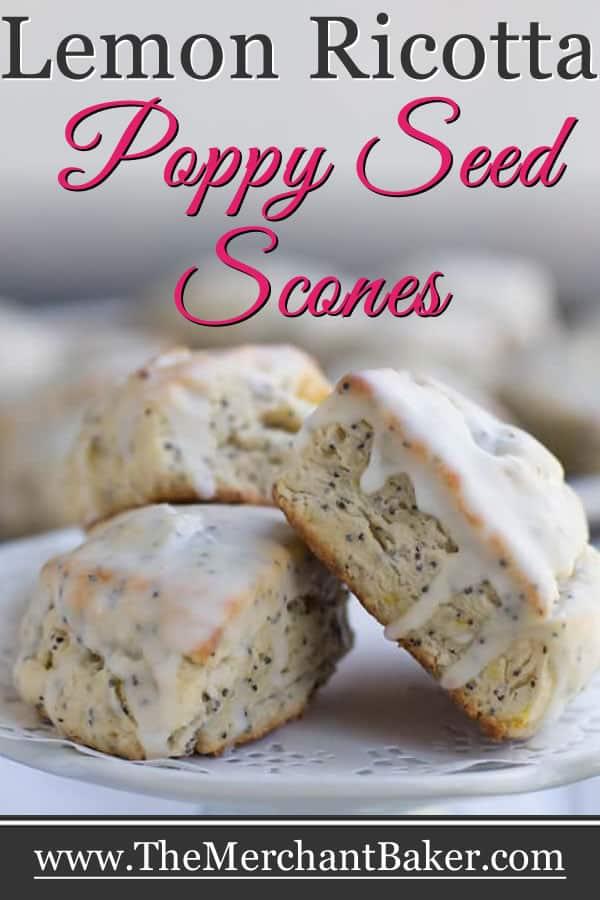 Lemon Ricotta Poppy Seed Scones