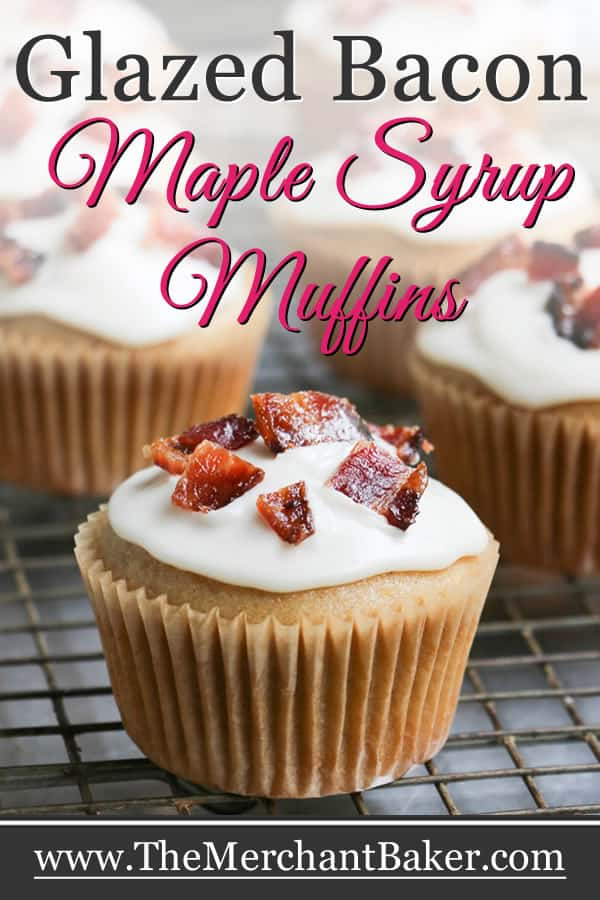 Glazed Bacon Maple Syrup Muffins