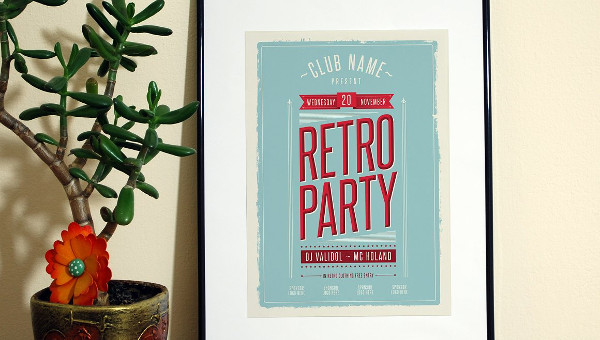 Retro Style Event Promotion