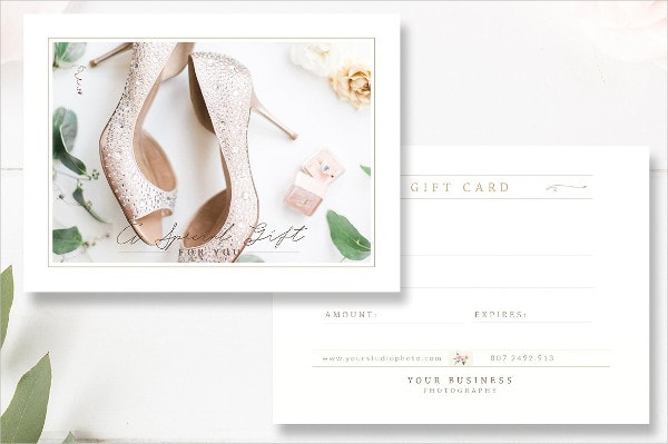 Beautiful Photographer Gift Card Template