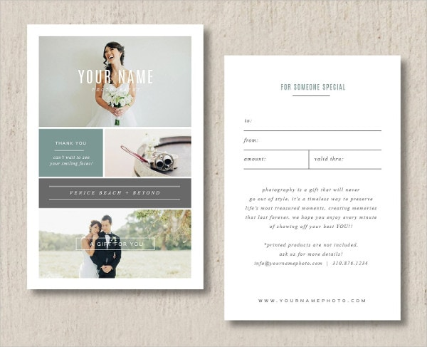 Cool Photography Gift Voucher Template